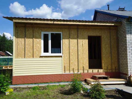 Пристройка к дому по канадской технологии на Кубани
