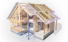 Дом из деревянного каркаса